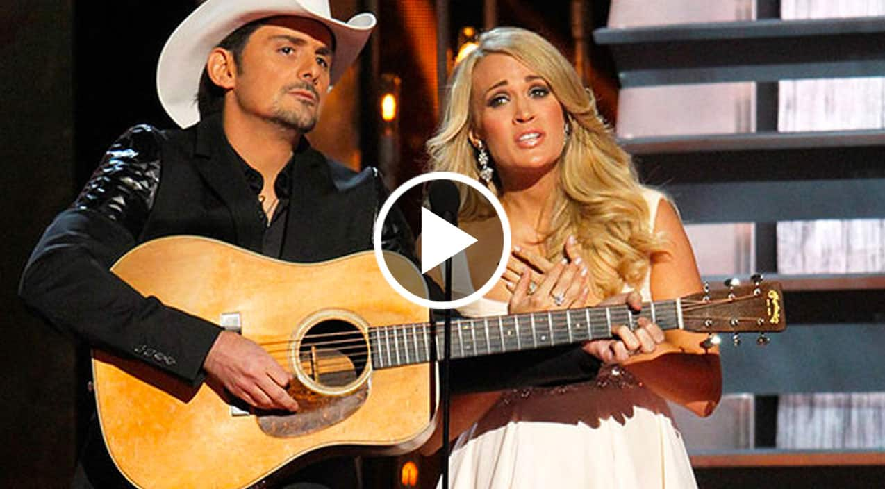 Carrie Underwood Surprises Brad Paisley Fans With Haunting