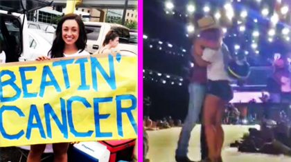 Cancer-Stricken Fan Bravely Takes Wig Off For Kenny Chesney