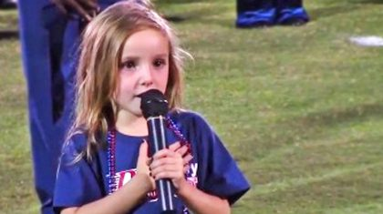 Country Star's 6-Year-Old Daughter Charms With Adorable Performance Of The National Anthem