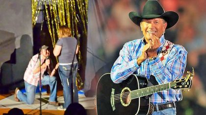 Man Sings George Strait's 'I Cross My Heart' While Proposing To Girlfriend