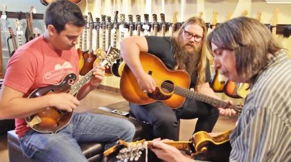 Chris Stapleton Delivers Impromptu Bluegrass Jam At Local Guitar Store