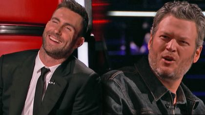 "Blake & Adam Get In Fierce Battle Over Michael Bublé Replica On ""The Voice"""