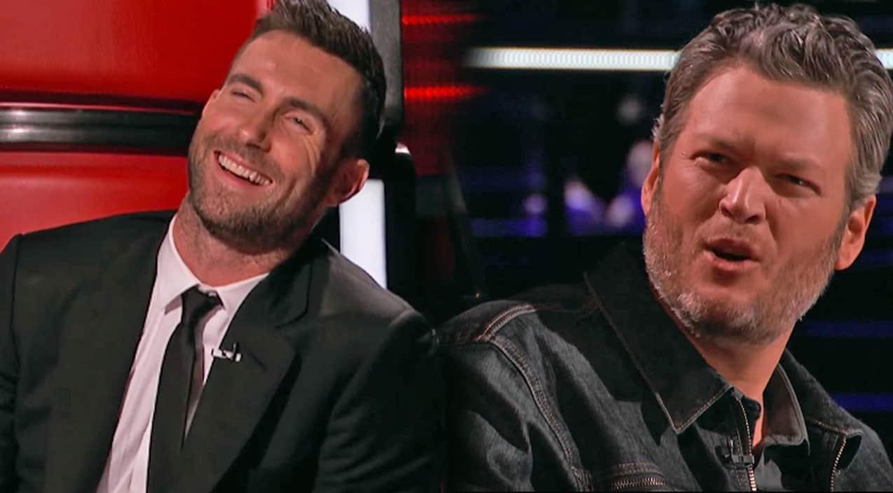 "Blake & Adam Get In Fierce Battle Over Michael Bublé Replica On ""The"
