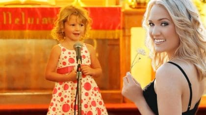 Adorable 4-Year-Old Channeling Her Inner Carrie Underwood Will Make Your Day