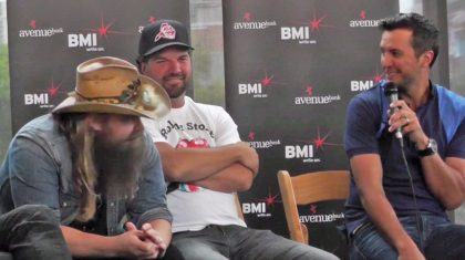 You Have To See The Way Chris Stapleton Reacts When Luke Bryan Dishes Him A Major Compliment