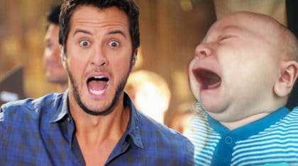 Unhappy Baby Stops Crying Every Time Luke Bryan's Music Plays