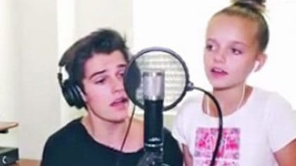 Sweet Sibling Duo Sings Two Beloved Classics, And It's The Most Adorable Thing Ever