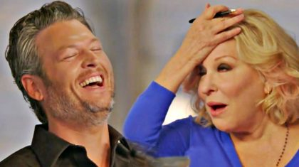 "Bette Midler's Reaction To Blake's ""Man Boobs"" Is A Must-See"