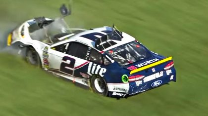 Rough Crash Destroys NASCAR Driver's Car