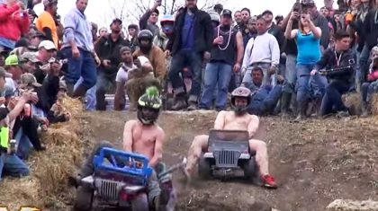 Extreme Barbie Jeep Racing Is More Dangerous Than NASCAR – See For Yourself!