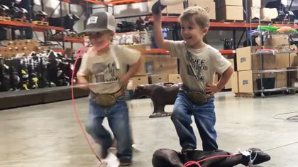 Adorable Little Cowboy Will Melt Your Heart With Insane Roping Skills