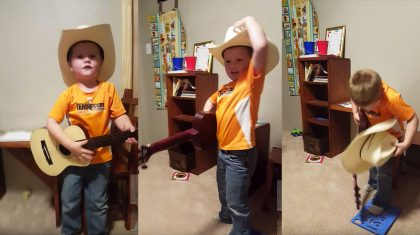 Adorable 3-Year-Old Cowboy Shows Up George Strait With Fiery Cover