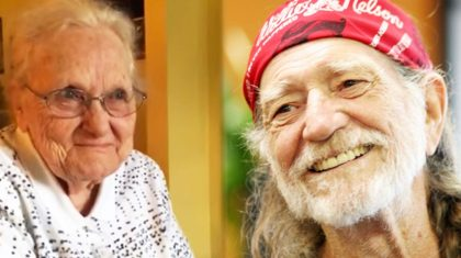 Adorable 92-Year-Old Lady Can't Contain Herself When Willie Nelson Records The Song She Wrote