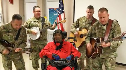 Military Music Group Moves Disabled Veteran To Near Tears With Johnny Cash Cover