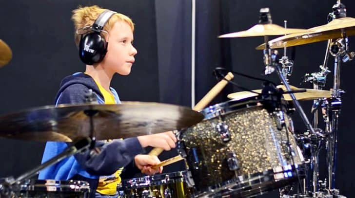 10-Year-Old Boy Delivers Sizzlin' Drum Cover Of Kid Rock's 'All Summer Long' | Country Music Nation