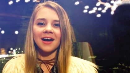 13-Year-Old Tegan Marie Shines In Heavenly Performance Of  'O Holy Night'