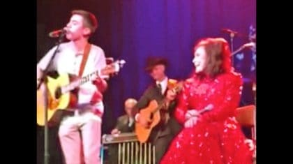 Loretta Lynn Beams With Pride While Grandson Sings Beside Her On Stage
