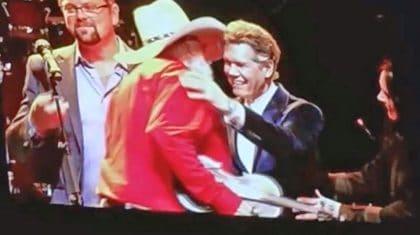 Randy Travis Surprises Charlie Daniels On Stage During Birthday Concert