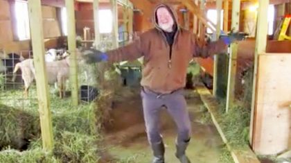 50-Year-Old Farmer Will Have You Crackin' Up With His Hysterical Barn Dance