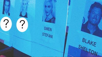 Y'all Won't Believe Who Blake & Gwen Are Sitting Next To At The People's Choice Awards
