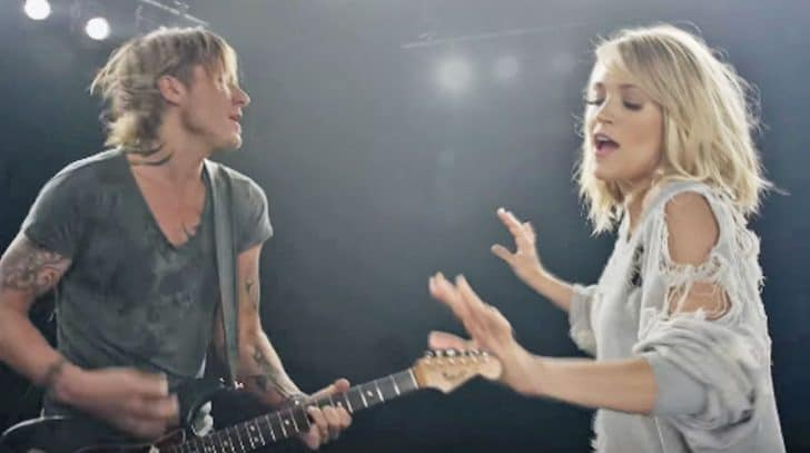 "Carrie Underwood Shows Off Dance Moves In Flirty New Video For ""The Fighter"" With Keith Urban 