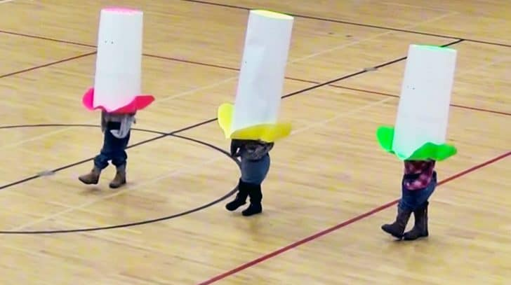 "Tiny Cowboys In Huge Hats Give Hysterical ""Elvira"" Dance You Can't Miss 