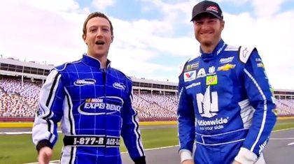 Watch Terrified Mark Zuckerberg Ride Shotgun With Dale Jr.