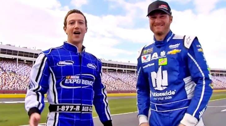 Watch Terrified Mark Zuckerberg Ride Shotgun With Dale Jr. | Country Music Nation