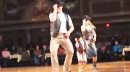 Little Cowboy Steals The Stage With Feisty 'Redneck Woman' Line Dance