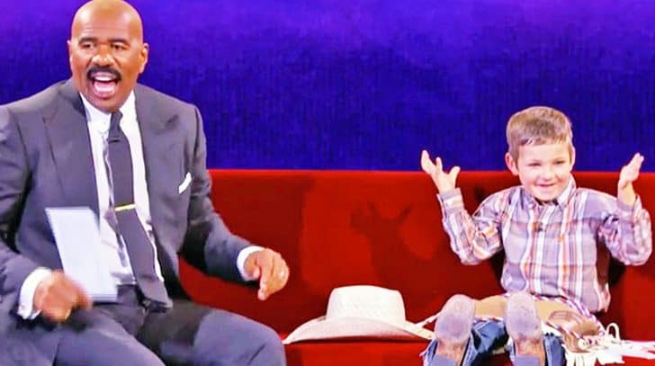 Steve Harvey Has Hysterical Conversation With The World's Cutest Cowboy | Country Music Nation