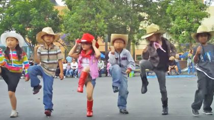 "First Graders' Adorable Line Dance To ""Achy Breaky Heart"" Will Have You Smiling All Day"