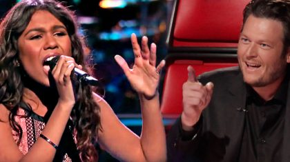Team Blake's Bold 15-Year-Old Tries Her Best At Carrie Underwood Superhit