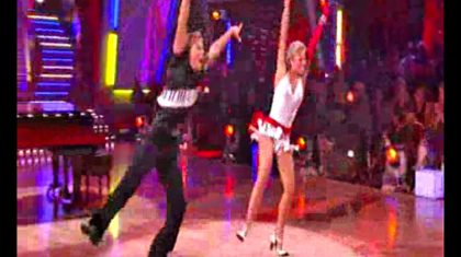 "Julianne & Derek Hough Ignite The Crowd With Flaming ""Great Balls of Fire"" Dance"