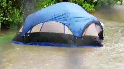 NASCAR Champ Saves Campers During Flooding