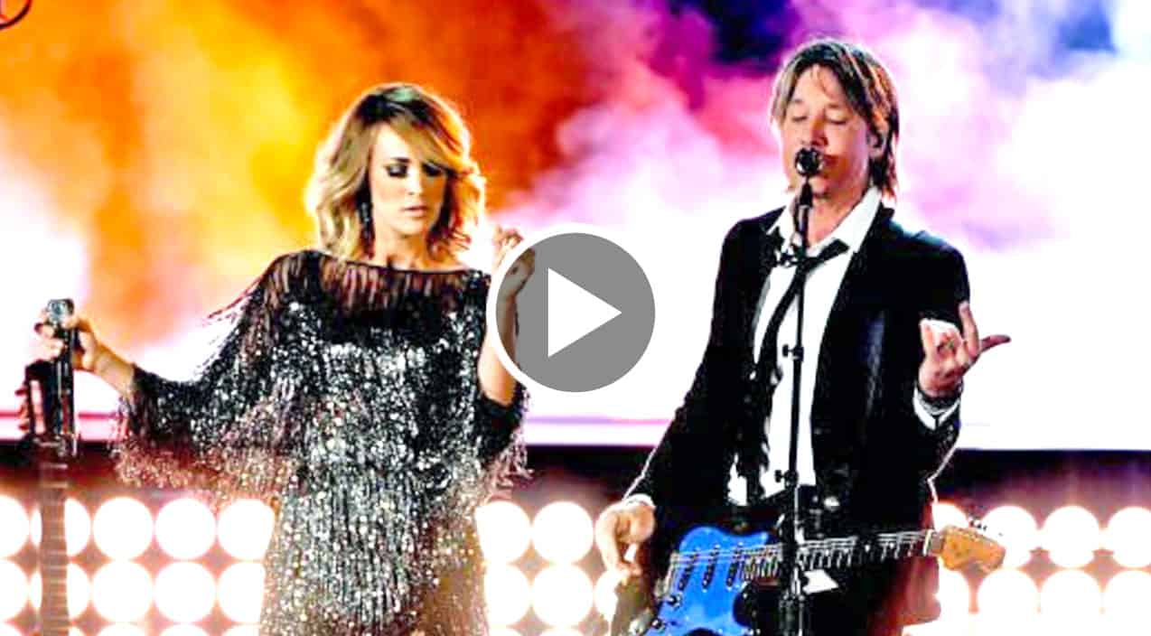 Keith urban carrie underwood conquer the acms with show for Carrie underwood and keith urban duet