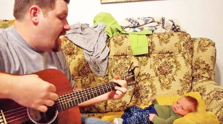 Dad Bonds With Baby Son Over Adorable George Strait Cover | Country Music Nation
