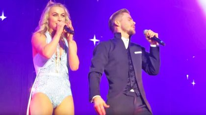 Julianne & Derek Hough Show Off Their Insane Vocal Skills With Adorable Disney Medley