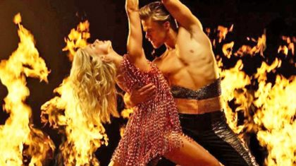 Julianne Hough's Hair Almost Went Up In Flames While Dancing With Derek