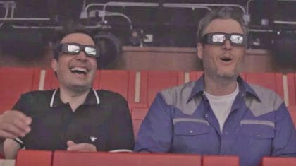 Blake Shelton Gets Nauseous On Jimmy Fallon's New Universal Studios Ride