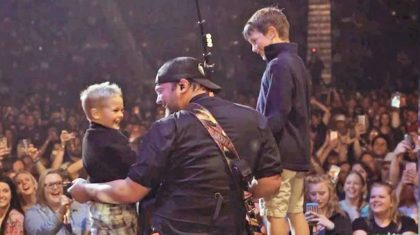 Country Singer Gets Emotional After Young Sons Surprise Him At Live Show