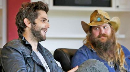 Y'all Won't Believe What Chris Stapleton Did To Thomas Rhett's Phone During The ACMs