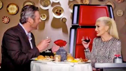 Proof That Gwen Stefani Takes Her Red 'Voice' Chair Home With Her