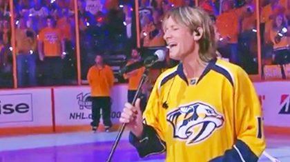 Keith Urban Surprises Nashville Predators Fans With National Anthem Performance