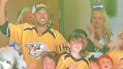 Spotted: Luke Bryan Dancing To His Own Song On The Nashville Predators Dance Cam