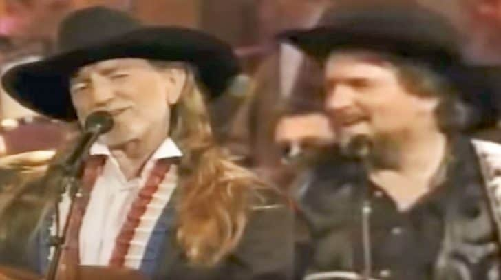 Waylon Jennings & Willie Nelson Join Friends For Red-Hot 'Only Daddy That'll Walk The Line' | Country Music Nation