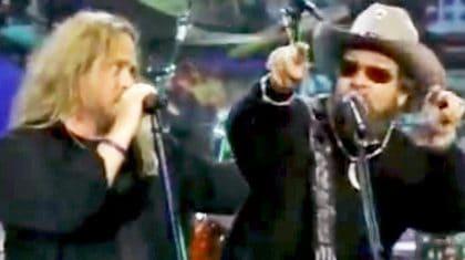 Remember When Hank Jr. & Lynyrd Skynyrd Jammed To 'Gimme Three Steps' On Late Night TV?