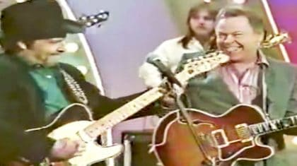 Merle Haggard & Roy Clark Show Off Their Silly Sides With 'I Think I'll Just Stay Here And Drink'
