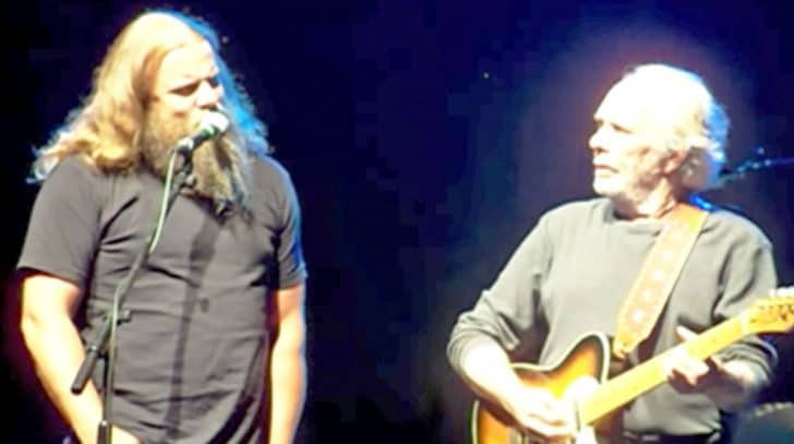 Merle Haggard Invites Jamey Johnson To The Stage For Pure Country 'Long Black Veil' | Country Music Nation