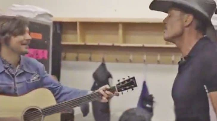 Tim McGraw's Impromptu Backstage Jam Session Of Classic Country Hit Is Perfection | Country Music Nation