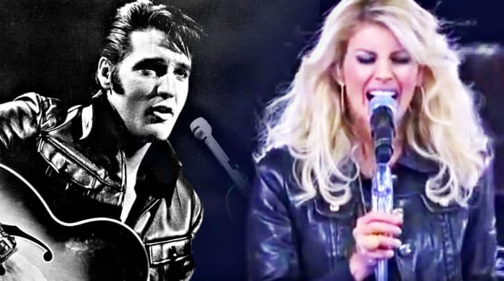Leather-Clad Faith Hill Delivers Growling Tribute To Elvis | Country Music Nation